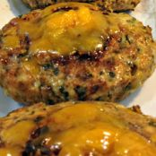 Chicken Burgers with Cheddar and Spinach