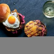 Aussie Burgers with Pickled Beets, Pineapple and Fried Eggs