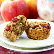 Apple Pie Oat Muffins