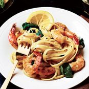 Shrimp Florentine Pasta-Cooking Light