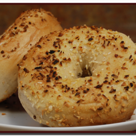 Whole Wheat-Onion Bagels