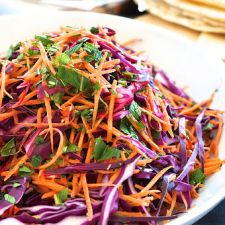 Red Cabbage, Carrot & Mint Salad