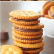 Rolo Ritz Cracker Cookies