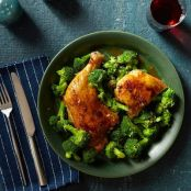 Soy-Honey Chicken With Lemon Broccoli