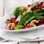 Salad--Spinach Pomegranate Salad