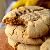 Chewy Peanut Butter Banana Cookies
