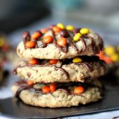 Reeses Pieces Peanut Butter Oatmeal Cookies
