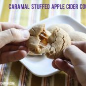 Caramel Stuffed Apple Cider Cookies