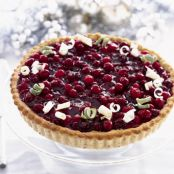CRANBERRY-LIME TART
