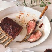 Sun-Dried Tomato and Garlic-Crusted Rack of Lamb