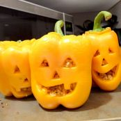 Jack 'O Lantern Stuffed Bell Peppers