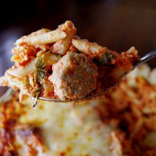 Baked Ziti with Meatballs by Giada De Laurentiis