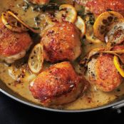 Roasted Chicken Thighs with Lemon & Oregano