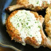 Pork Chops with Lemon Basil Cream Sauce