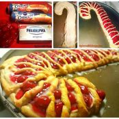 Candy Cane Cheese Danish
