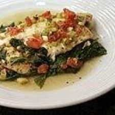 Baked Tilapia and Fresh Spinach