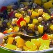 CORN AND BLACK BEAN SALAD WITH BASIL-LIME VINAIGRETTE  {giada}
