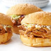 Slow Cooked Barbecued Pork Sandwiches