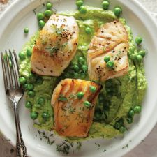 Sautéed Cod with Pea Cream