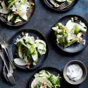 Winter Escarole, Pear & Walnut Salad with Creamy Sumac Dressing