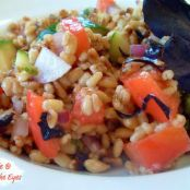 Toasted Barley Salad with Fresh Herbs, Tomato & Zucchni
