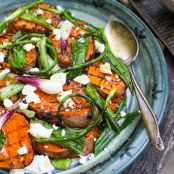 Grilled Sweet Potato and Green Onion Salad