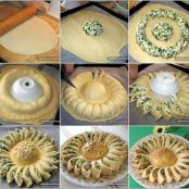 Sun-Shaped Spinach Pie