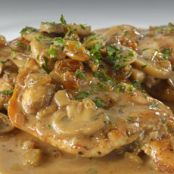 Chicken Scaloppini Marsala with Mushrooms