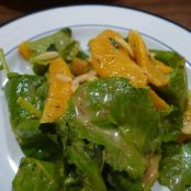 Baby Kale Orange Salad with Cranberry Dressing