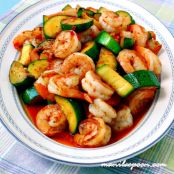 Sweet & Spicy Shrimp & Zucchini Stir-Fry