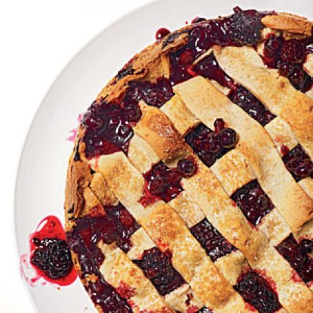 Rustic Huckleberry-Blackberry Tart