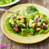 Paleo SLOW-COOKER CARNITAS LETTUCE WRAPS WITH PINEAPPLE & AVOCADO SALSA