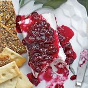 Wine Spiked Cranberry Cheese Log