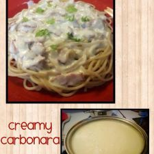 Creamy Carbonara with Bacon