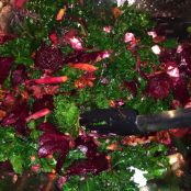Roasted Beets and Kale Salad