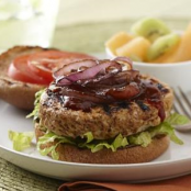 Kick'N Spicy Grilled Turkey Burgers with Caramelized Onions