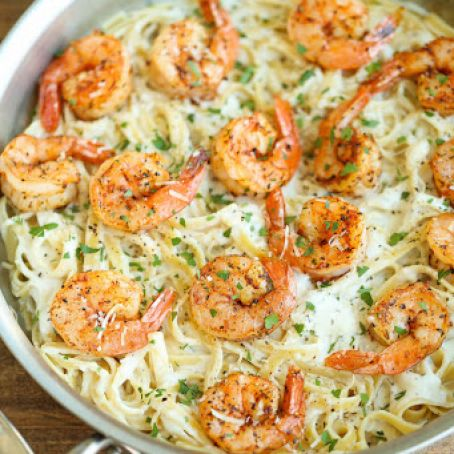 Cajun Shrimp with Garlic Parmesan Cream Sauce