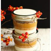 Mini Layered Pumpkin Pies in Mason Jars