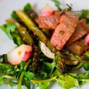 Lemongrass Glazed Tuna on Grilled Asparagus and Turnip Salad