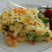 Potato, Broccoli and Pepper Jack Egg Casserole