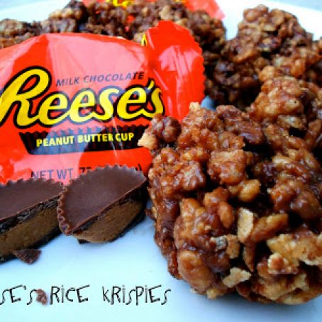 Reese's Peanut Butter Cup Rice Krispies Treats