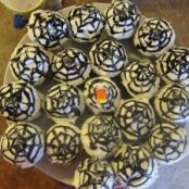 Spider Web Chocolate Stout Cupcakes