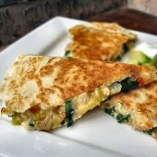 Chicken, Spinach & Cannellini Bean Quesadillas