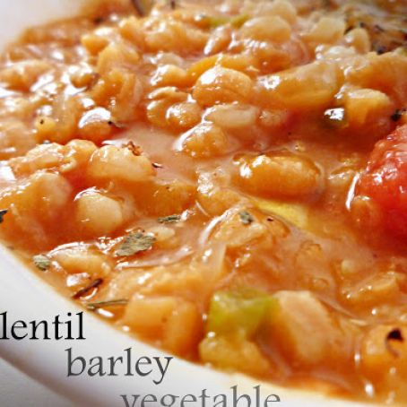 Crock Pot Lentil Vegetable Barley Soup