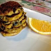 Clove Orange and Cranberry Plantain Pancakes