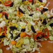 Apricot Vinegar, Fig, Sweet Pepper, and Romaine Salad