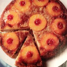 Cake: Pecan Pineapple Upside-down Cake