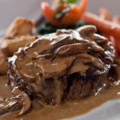 Seared Filet Mignon with Jameson Sauce and Mushrooms
