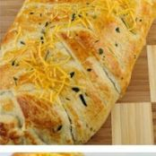 Baked BBQ Chicken and Broccoli Braid