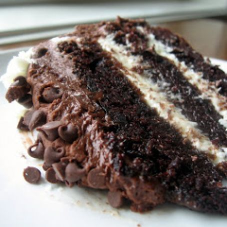 Chocolate Layer Cake with Cream Cheese